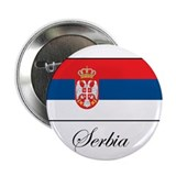 Serbia - Serbian Flag Button