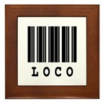 Loco Barcode Design Framed Tile