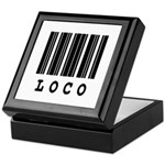 Loco Barcode Design Keepsake Box