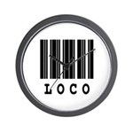 Loco Barcode Design Wall Clock