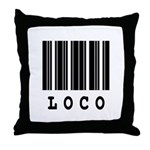 Loco Barcode Design Throw Pillow