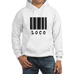 Loco Barcode Design Hooded Sweatshirt
