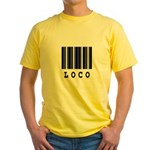 Loco Barcode Design Yellow T-Shirt