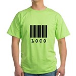 Loco Barcode Design Green T-Shirt