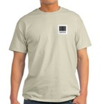 Loco Barcode Design Ash Grey T-Shirt