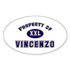 My heart belongs to vincenzo Oval Decal