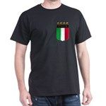 Italian 4 Star flag Dark T-Shirt