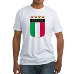 Italian 4 Star flag Fitted T-Shirt