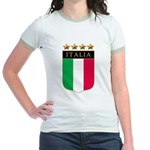 Italian 4 Star flag Jr. Ringer T-Shirt