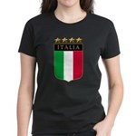 Italian 4 Star flag Women's Dark T-Shirt