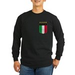 Italian 4 Star flag Long Sleeve Dark T-Shirt