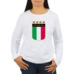 Italian 4 Star flag Women's Long Sleeve T-Shirt