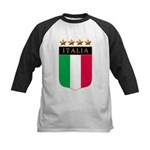 Italian 4 Star flag Kids Baseball Jersey