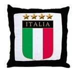 Italian 4 Star flag Throw Pillow