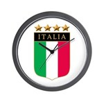 Italian 4 Star flag Wall Clock