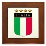 Italian 4 Star flag Framed Tile