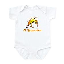 El Chupacabra Orange Infant Bodysuit