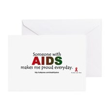 """AIDS pride"" Greeting Cards (Pk of 10)"