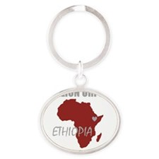 6 MILLION ORPHANS_trns_maroon Oval Keychain