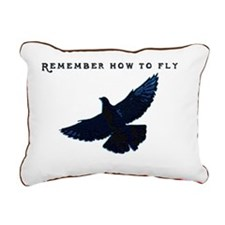 middle pigeons Rectangular Canvas Pillow