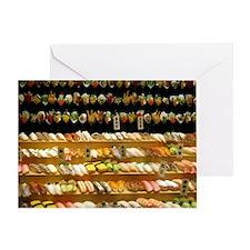 2-16x20_print SUSHI WALL Greeting Card