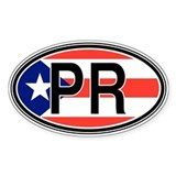 Puerto Rico Euro Oval Decal