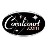 Coral Court Motel Oval Sticker
