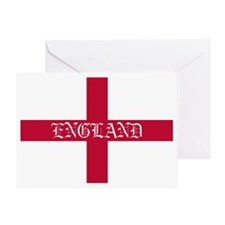 NC English Flag- England oldstyle Greeting Card