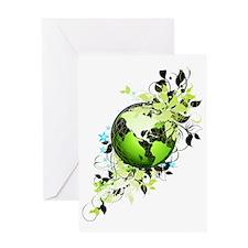 live green Greeting Card