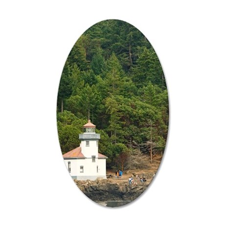 San Juan Islands. Lime Kiln  35x21 Oval Wall Decal