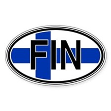 Finland Euro Oval Decal