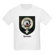 Kennedy Clan Crest Tartan Kids T-Shirt