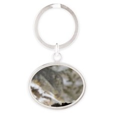 Black Bear, Yellowstone National Par Oval Keychain