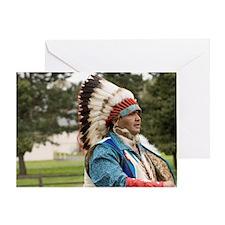 The Nez Perce Indian Tribe celebrate Greeting Card