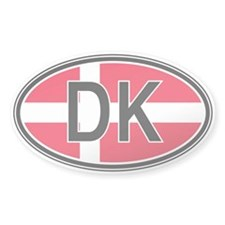 Denmark Euro Oval Decal