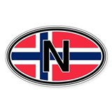 Norway Euro Oval Decal