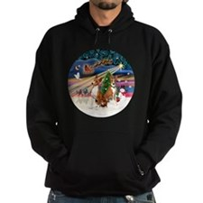 Xmas Magic - Basenjis (two) Hoodie