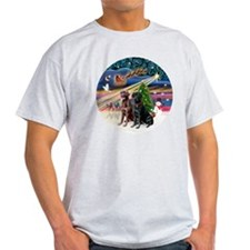 Xmas Magic - Labradors (black-chocol T-Shirt