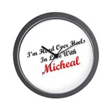 In Love with Micheal Wall Clock