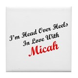 In Love with Micah Tile Coaster