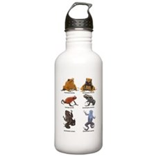 2-poison frogs black t Water Bottle