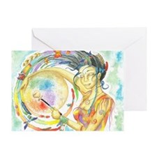Drumming in Spirit Greeting Card