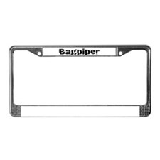 Bagpiper (Hardcore) License Plate Frame