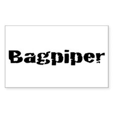 Bagpiper (Hardcore) Rectangle Decal