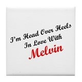 In Love with Melvin Tile Coaster