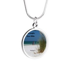 Simple Pleasures5.25 Silver Round Necklace