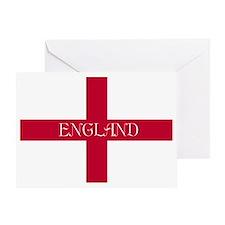 NC English Flag- English Anglican Greeting Card