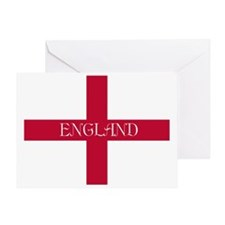 PC English Flag - English Anglican Greeting Card