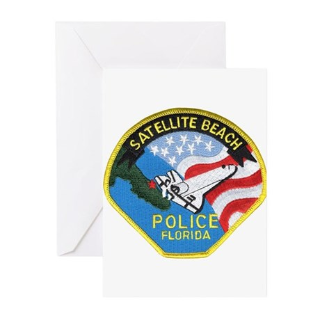 Satellite Beach Police Greeting Cards (Package of
