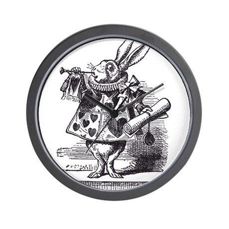 White Rabbit 2 Wall Clock